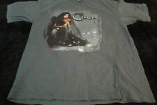 Cher Do You Believe 2000 Concert Tour Blue T-Shirt with Cities Sz Large