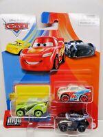 DISNEY PIXAR CARS MINI RACERS 3 Pack Next Gen Racers Series Chase Paul Jackson