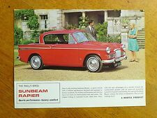 Original Sunbeam Rapier sales brochure, Rootes Ref: 1088/H