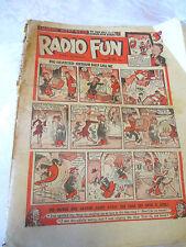 RADIO FUN #325 30th December 1944 vintage collectable UK war-time comic WEEKLY