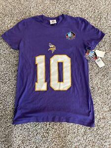 Women NFL Team Apparel Minnesota Viking Tarkenton #10 Hall of Fame Size S R3