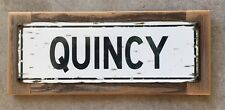 Quincy University Illinois Gem City Vintage Street Style Framed Sign Home Decor