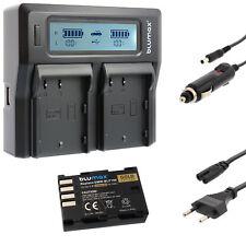 Batterie pour Panasonic dmw-blf19e + Dual Charger pour DMW blf19 E | 60393 | 90389