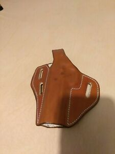 "Colt 1911 5"" Pancake OWB Leather Gun Belt Holster"