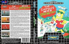 Los Simpsons Bart vtsm Sega Mega Drive PAL Caja De sustitución Cubierta Estuche De Arte Insertar