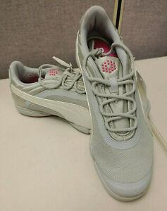 Puma SunnyLite V2 Mesh Womens Golf Shoes (Gray Violet, White, Pink) Size 7