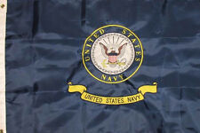 US Navy 3x5 3'x5' EMBROIDERED Flag United States Navy 2 double sided