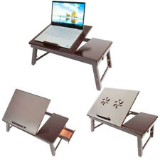 Portable Folding Bed Lap Desk Bamboo Laptop Breakfast Reading Tray Table Stand