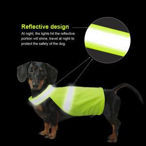 Reflective Safety Vest High Visibility Dog Clothes Jacket Coat Hi Vis Viz  S M L