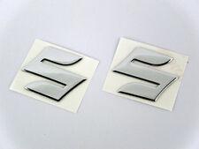 "Chrome Motorcycle Emblem Badge Decal 3D Tank Wheel Logo ""S"" Sticker for Suzuki"