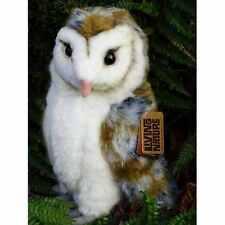 BARN OWL - LIVING NATURE FLUFFY CUDDLY SOFT STUFFED PLUSH TEDDY TOY AN346