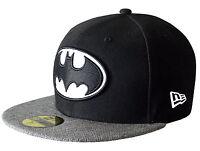 Batman NEW ERA 59FIFTY herringbone schwarz weiß Baseball Cap 7 1/8 - 7 1/2