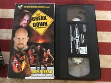 WWF - Break Down In Your House (VHS, 2000) W/ Original Sleeve! Tested! Works!