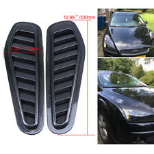 2X Universal Car Styling Stickers Air Intake Scoop Turbo Bonnet Vent Cover Hood