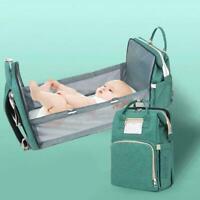 Foldbale Diaper Bag Baby Bed Portable Crib Backpack Travel/Sleep H0N4