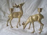 brass deer candle holders holder ornate metal figure statue