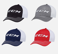 CCM Hockey Core Foam Mesh Hat! Fitted Flex Fit Adult Black Blue Red Grey C4574