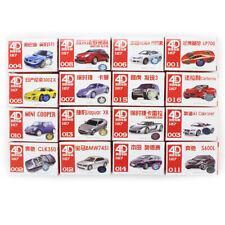 1/87 Toy HO Scale 4D Vehicle Car Model Kit 16pcs Display BMW Nissan Ferrari Benz