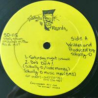 Schoolly D Saturday Night Vinyl Record Original Hip Hop 1986