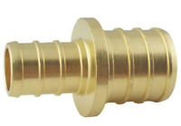 "Apollo Valves APXC1234 PEX Coupling Brass Crimp Fittings, 1/2"" X 3/4"""