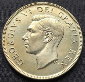 1952 Canada Silver $1 Dollar Coin ***No Waterlines Variety*** Great Condition