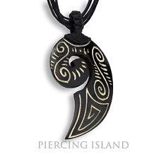 Tribal Amulett Anhänger Kette Maori Knochen Bone Design inkl. Band PB382