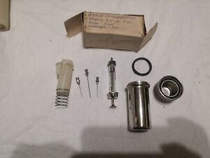 VINTAGE medical hospital syringe w needle tool sterilizer tube metal box chirana