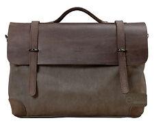 Vintage Canvas Leather CrossBody Tote Satchel Handbag Shoulder Messenger Bag New