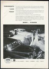 1954 Cadillac Chevrolet Buick car GM Motorama car show photo vintage print ad