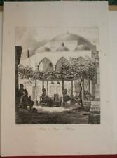 ATHENS THE BAZAR GREECE 1819 ENGELMANN ANTIQUE ORIGINAL LITHOGRAPHIC VIEW