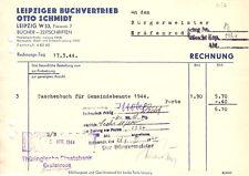 Rechnung, Leipziger Buchvertrieb Otto Schmidt, 17.3.44