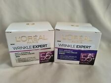 L'Oreal Paris Wrinkle Expert 55+ Anti-Wrinkle Restoring Cream Day and Night NEW