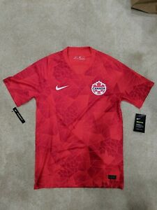 NEW Nike Canada Soccer Jersey Men's Size S 2020-21 Home Stadium Red CU3741-600
