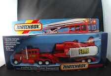 Matchbox K-112 Fire Spotter Plane transporter pompier porte avion neuf mint