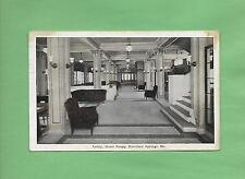 LOBBY At HOTEL SNAPP In EXCELSIOR SPRINGS, MO On Vintage 1923 Postcard