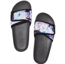 VS Victorias Secret Pink Crossover Comfort Slide Sandal Flip Flop Tie Dye S 5/6
