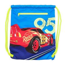 Disney Store Cars Lightning McQueen Drawstring Tote Bag - Blue & Green
