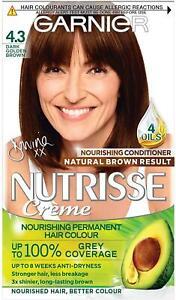 Garnier Nutrisse Cream 4.3 Dark Golden Brown Hair Dye Permanent