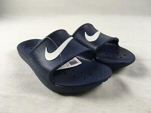 Nike Kawa Shower Sandals & Flip Flops Men's Navy Blue New Multiple Sizes