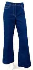 ESCADA Medium Blue Cotton Denim Contrast Stitch Flared Leg Jeans 40