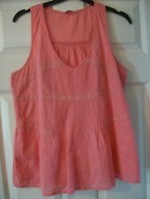 Tunic Indian Cotton 10 Coral Peach Swing Top, Summer Blouse Miss Selfridge