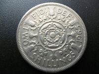 TWO SHILLINGS COIN, GOOD CIRCULATED CONDITION 1953-1967 QUEEN ELIZABETH SECOND.
