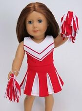 """Doll Clothes Fit AG 18"""" Red Cheerleader Outfit Made For American Girl Dolls"""