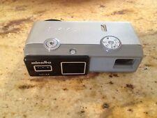 Vintage MINOLTA-16 ND-4X Camera +Leather Case Japan Made