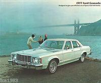1977 FORD GRANADA Brochure / Pamphlet : GHIA, SPORTS COUPE, Sedan