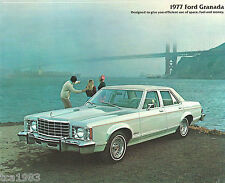 1977 FORD GRANADA Brochure / Pamphlet : GHIA, SPORTS COUPE, Sedan