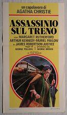 Locandina ASSASSINIO SUL TRENO 1972 CAPOLAVORO DI AGATHA CHRISTIE M.RUTHERFORD
