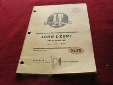 John Deere 2510 2520 Tractor I&T Shop Manual