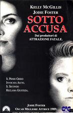 Sotto accusa  (1990) VHS CiC   Jodie Foster Oscar