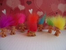 "Valentine Cupid Ring w/7 Miniature Trolls - 1"" Russ Troll Dolls - New"